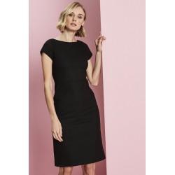 Contemporary Slash Neck suknelė, juoda