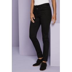 Moteriškos Stretch Slim Leg kelnės, Regular, juodos
