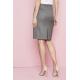 Contemporary lygus Pleat Back sijonas, pilkas