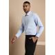 Mažai liemenuoti marškiniai / Modern Fit ilgomis rankovėmis, tamprūs, balti