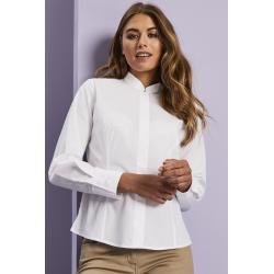Mandarin kaklo tipo marškiniai ilgomis rankovėmis